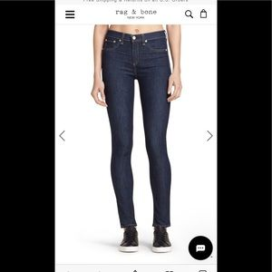 Rag & Bone 10 inch skinny dark wash jeans size 28
